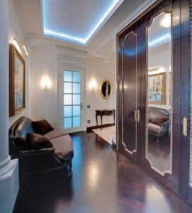 Interior design dark furniture